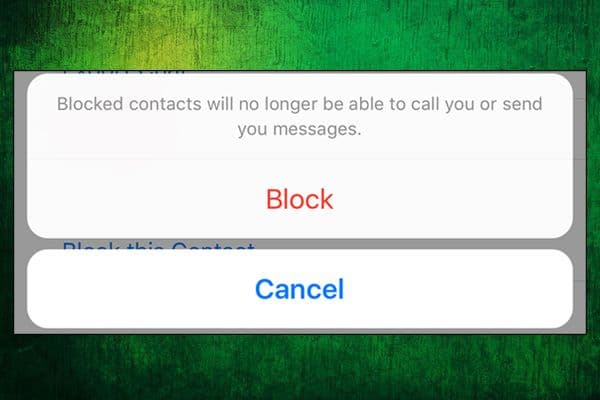Block a contact on WhatsApp