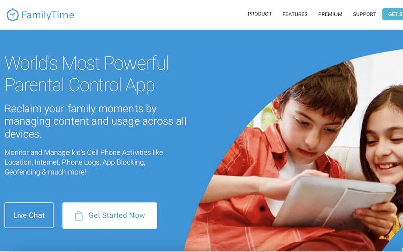 FamilyTime App to monitor child's phone