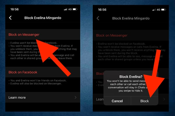 How to block someone on Facebook Messenger on iPhone
