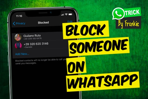 how to block someone on WhatsApp