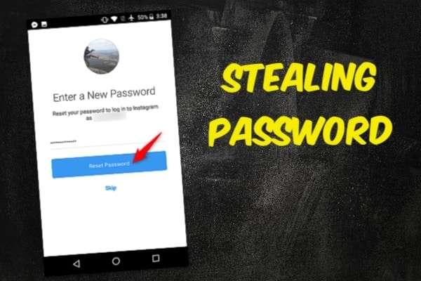 Hack Instagram stealing password