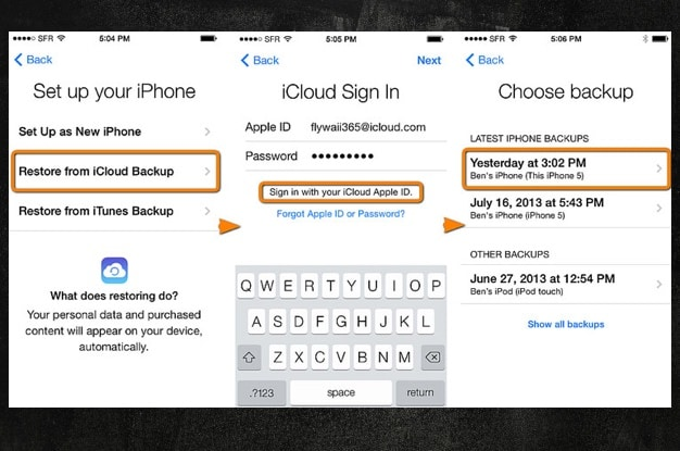 recover Text Messages from iCloud Backup