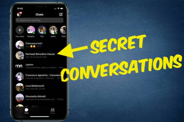 FINDING SECRET CONVERSATIONS ON MESSENGER WITH IPHONE