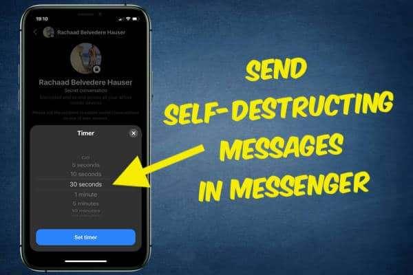 Send Self-Destructing Messages in Messenger