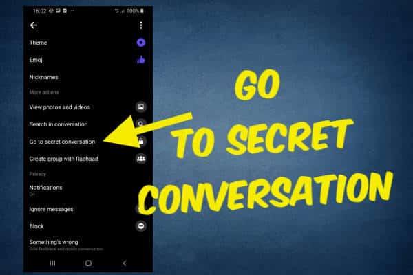 secret conversation messenger android