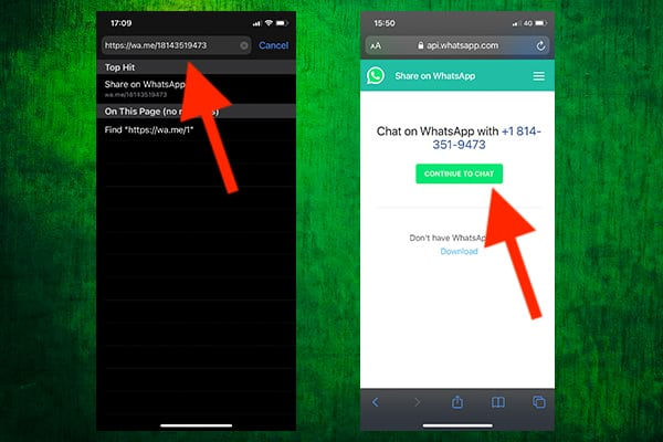 Sending WhatsApp Messages to Contacts Not Saved on Your iPhone