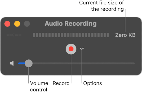 QuickTime player voice recoding