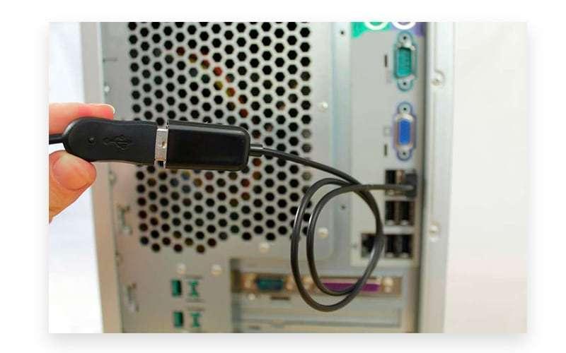 Spy on Messenger with Keylogger hardware