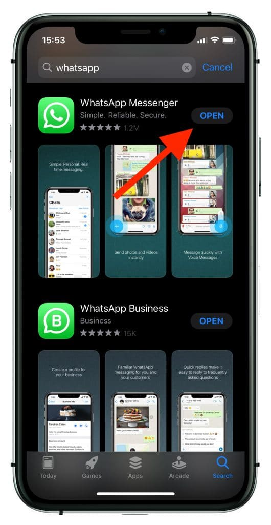 the latest version of WhatsApp installed on your device already