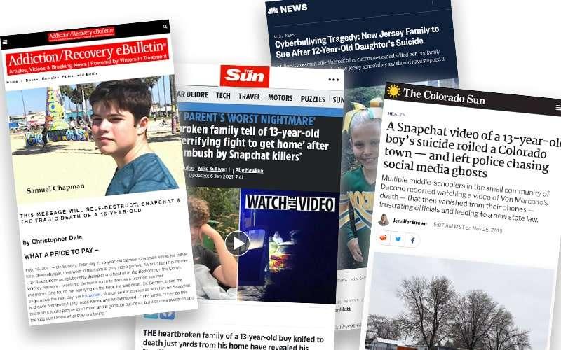 Snapchat tragedy news