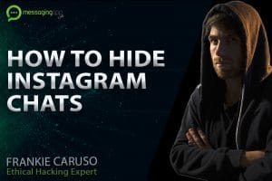 How to hide instagram chats