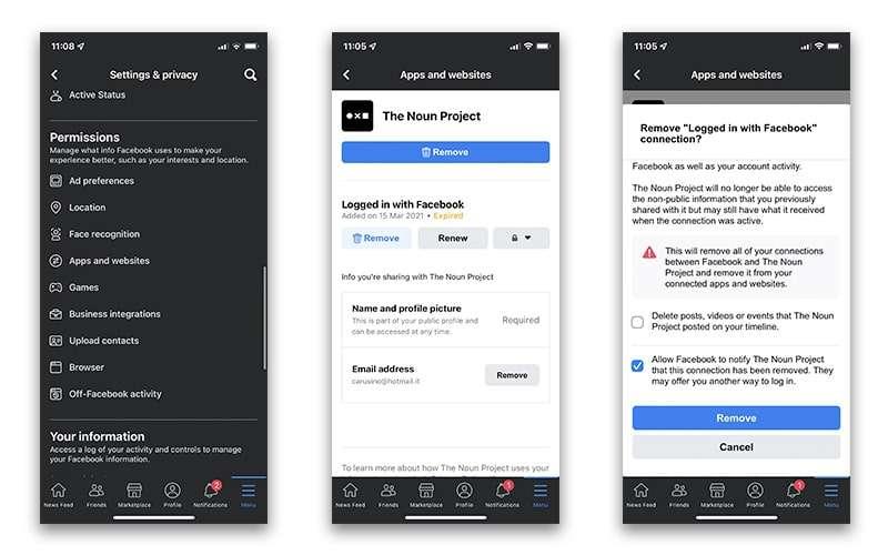App Syncing to Facebook